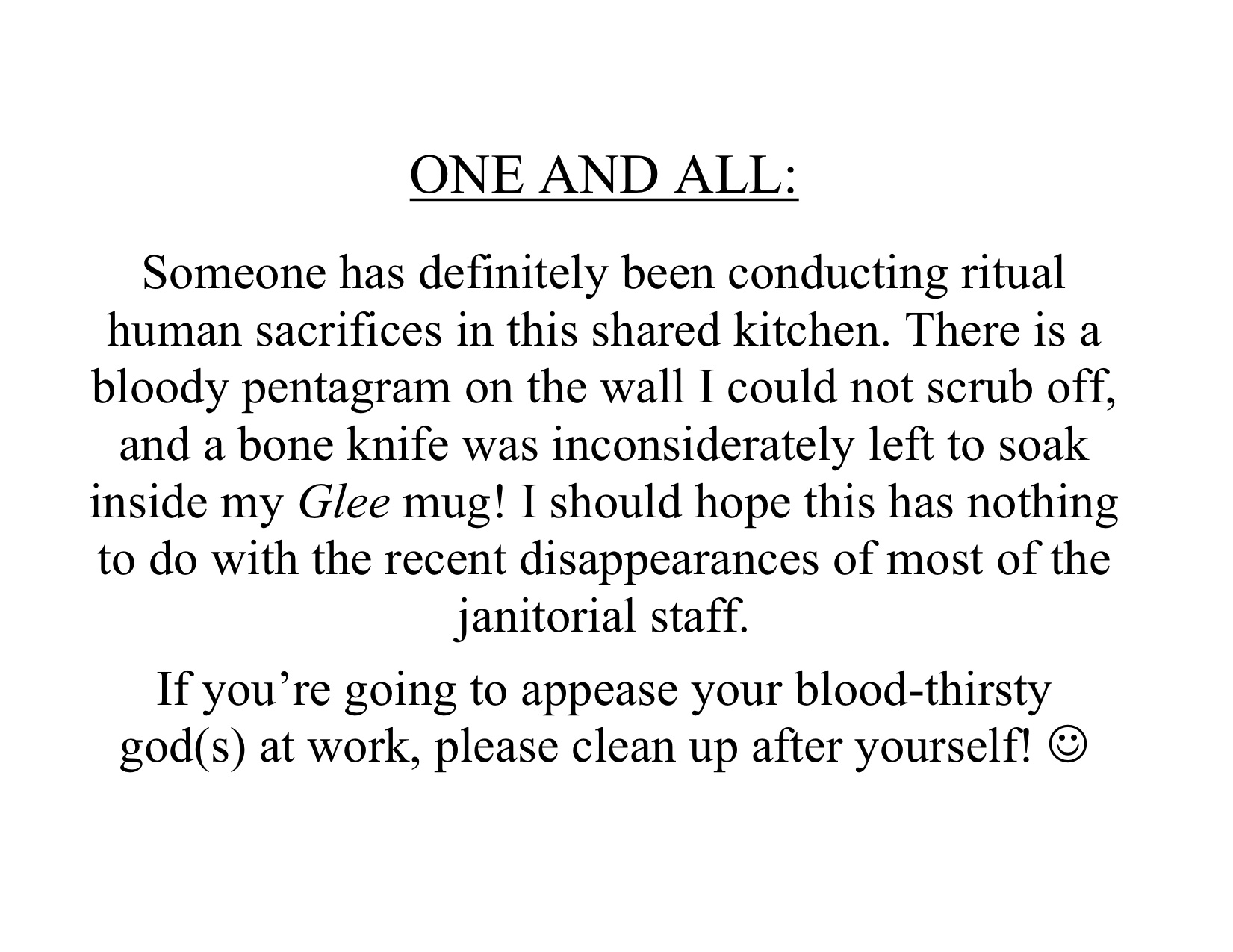 Print Your Own Passive-Aggressive Notes For The Office Kitchen | Fun ...